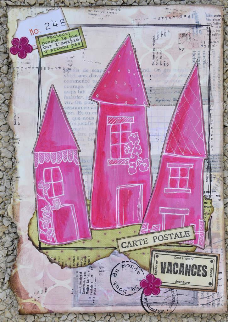 Mon Art journal en vacances... # pages 5 et 6